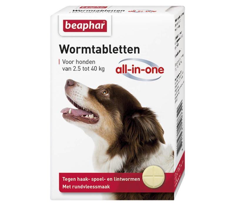 Beaphar   Wormtablet all in one hond   4 tab   2,5-40 kg