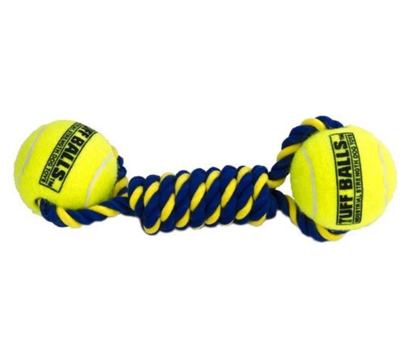 Knotted Cotton Rope Bumper with 2 Tuff Balls (6cm)