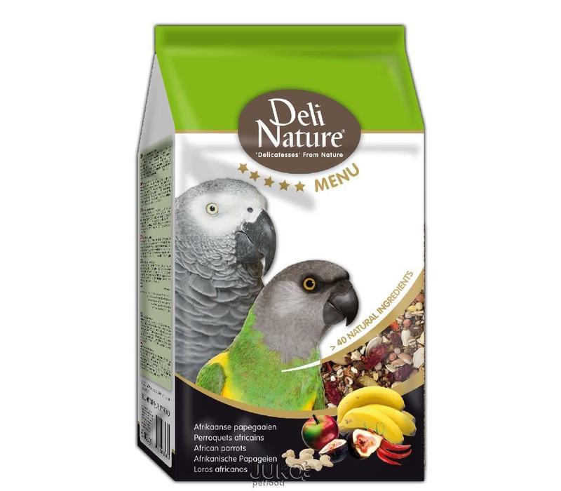 Deli Nature 5* menu afrikaanse papegaai