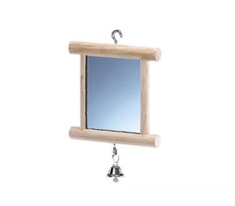 Holzspiegel mit Glocke