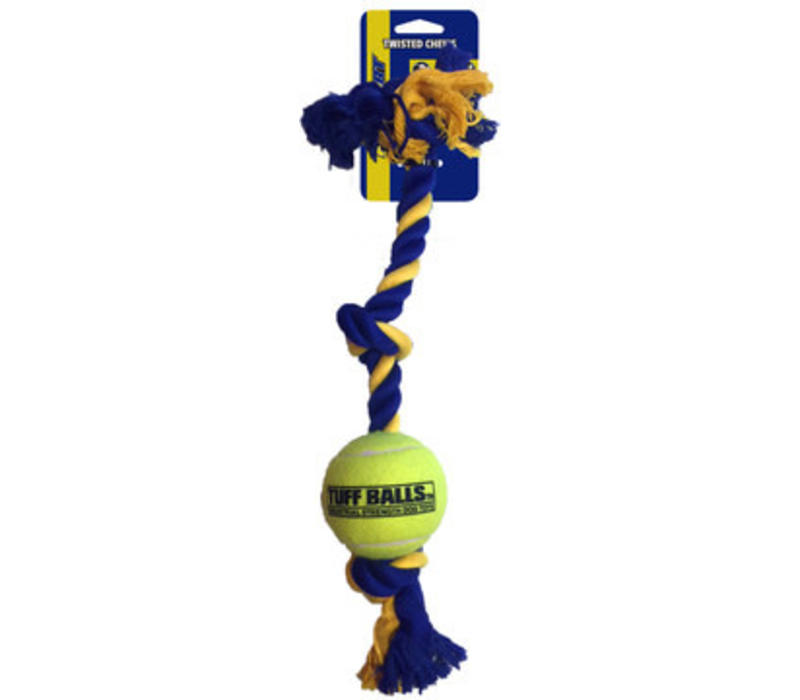 Mini 3-Knot Cotton Rope with Tuff Ball (4,5cm)