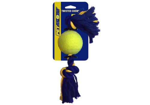 Pet Sport Medium 2-Knot Cotton Rope with Tuff Ball (6cm)