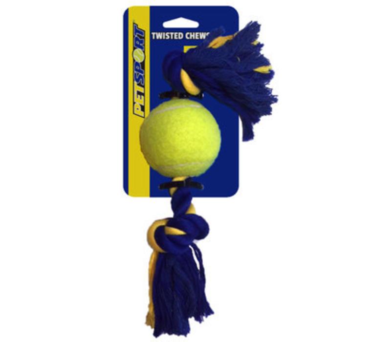 Medium 2-Knot Cotton Rope with Tuff Ball (6cm)