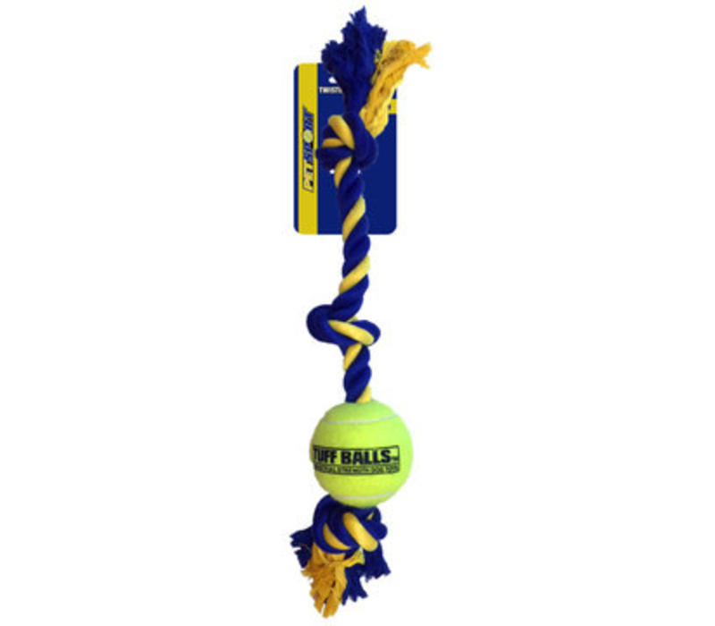 Giant 3-Knot Cotton Rope with Tuff Ball (10cm)