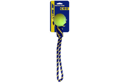 Pet Sport Knotted Cotton Rope Tug with Tuff Ball (6cm)