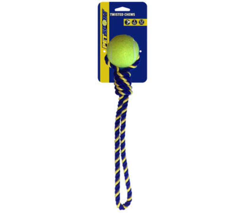 Knotted Cotton Rope Tug with Tuff Ball (6cm)