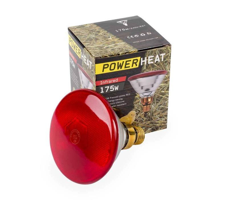Warmtelamp Powerheat, infra rood, 175Watt,  240V, PAR38, E-27