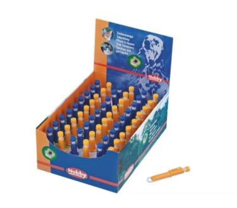 Zeckenzangen Kunststoff blau und orange