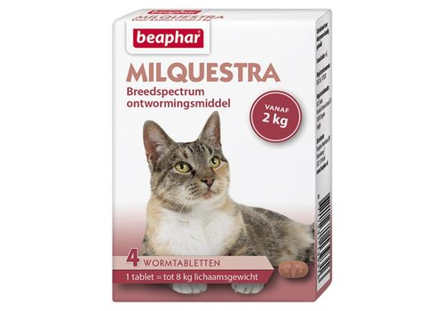 Beaphar Beaphar   Milquestra kat   4 tab   tot 8 kg