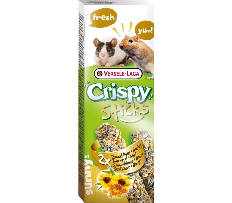 Versele-Laga Crispy | Sticks gerbil&muis zonnebloem | 2x55 g | Natuur