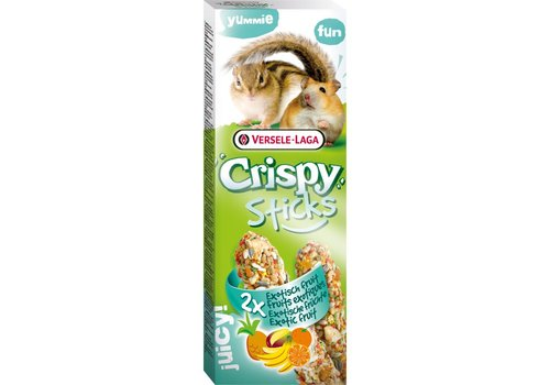 Versele-Laga Versele-Laga Crispy | Sticks hamster&eekhoorn fruit | 2x55 g | Fruit