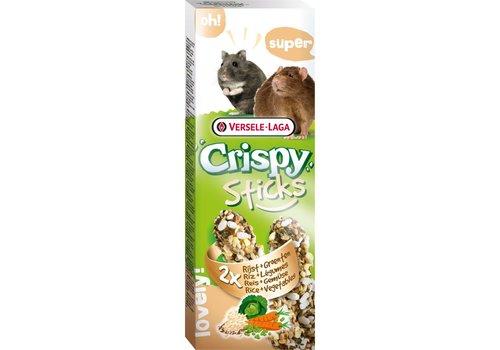 Versele-Laga Versele-Laga Crispy | Sticks hamster&rat rijst & groente | 2x55 g | groenten