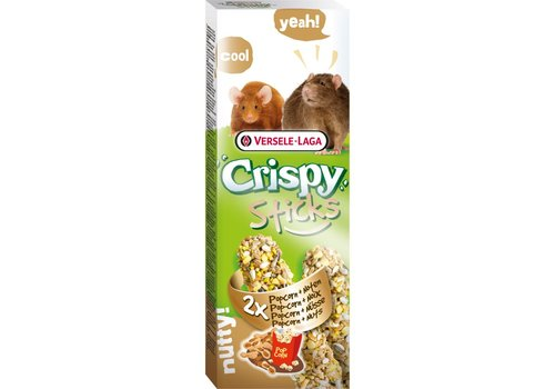 Versele-Laga Versele-Laga Crispy | Sticks rat&muis popcorn | 2x55 g | Popcorn
