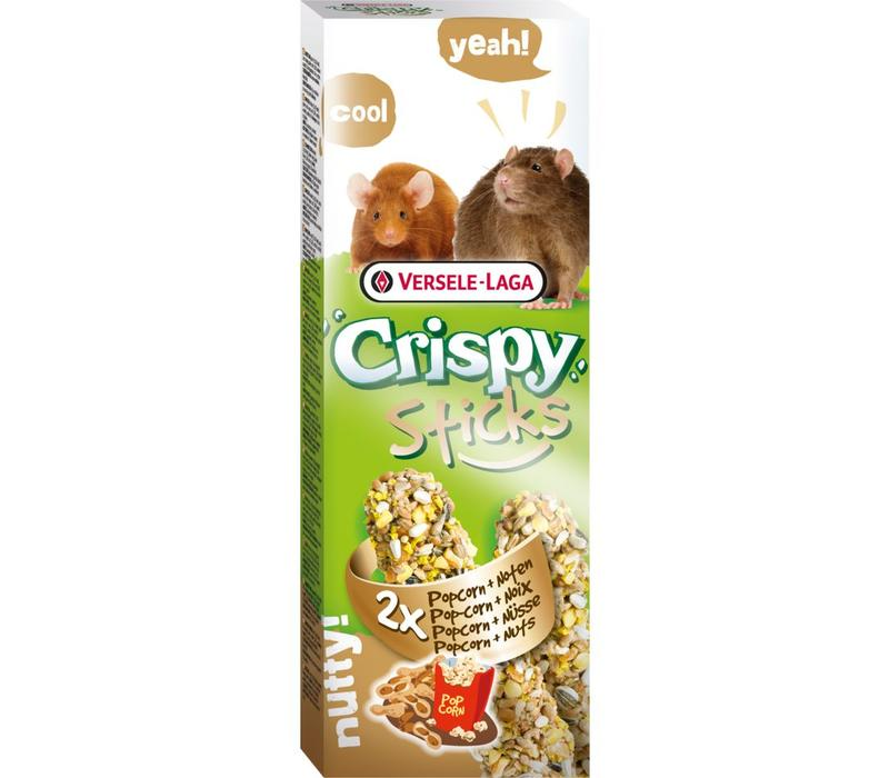 Versele-Laga Crispy | Sticks rat&muis popcorn | 2x55 g | Popcorn