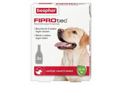 Beaphar Beaphar   Fiprotec dog 20-40kg   3 pip   20-40kg