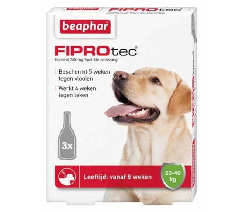 Beaphar | Fiprotec dog 20-40kg | 3 pip | 20-40kg