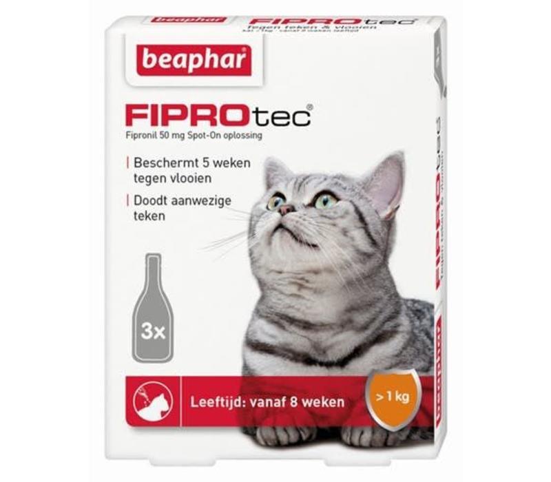 Beaphar   Fiprotec cat  >2kg   3 pip   van 2 maanden