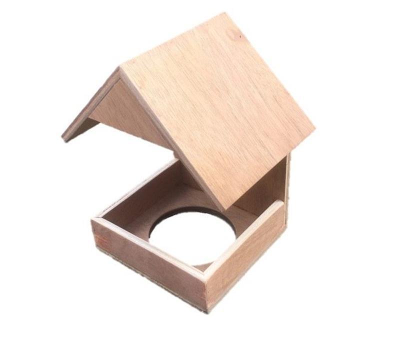 Nestkapel in hout, wildzang H23xB24xD16