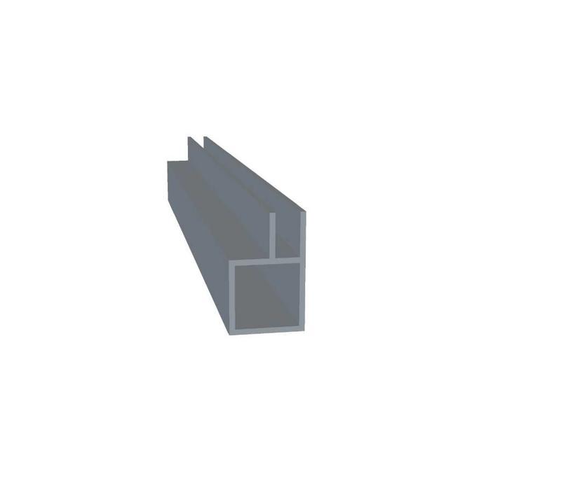 Aluminium Koker 20 x 20 x 1,5 mm | 1 flens 6,5 mm