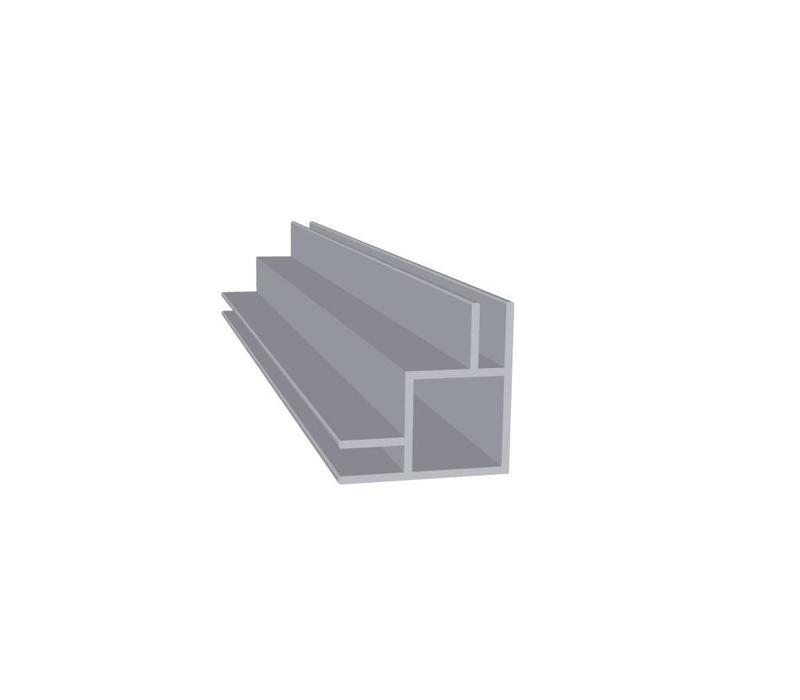 Aluminium Koker 20 x 20 x 1,5 mm   2 flens (buitenhoek) 3 mm