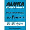 Aluka Aluka Gaas 12,7 x 12,7 x 1,05 mm Gepoedercoat gaas (Zwart) 25m