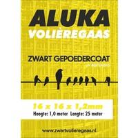 Aluka Gaas 16 x 16 x 1,20 mm Gepoedercoat gaas (Zwart) 25m
