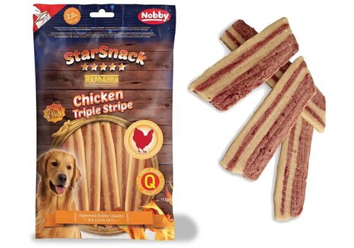 "Nobby STARSNACK ""Chicken Triple Stripe"