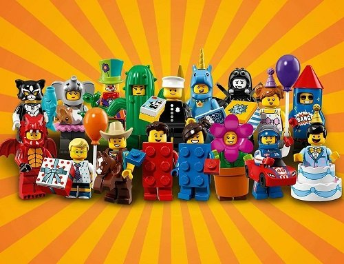 A true party with the latest LEGO Collectible Minifigures! Series 18 ...