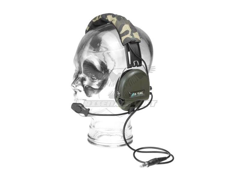 Z-Tactical SRD Headset Military Standard Plug Green