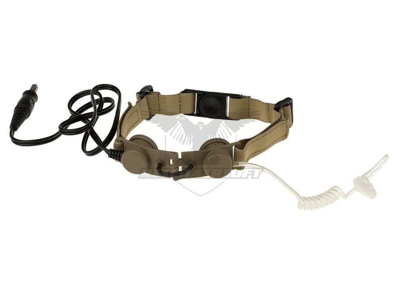 Z-Tactical Tactical Throat Mic Dark Earth