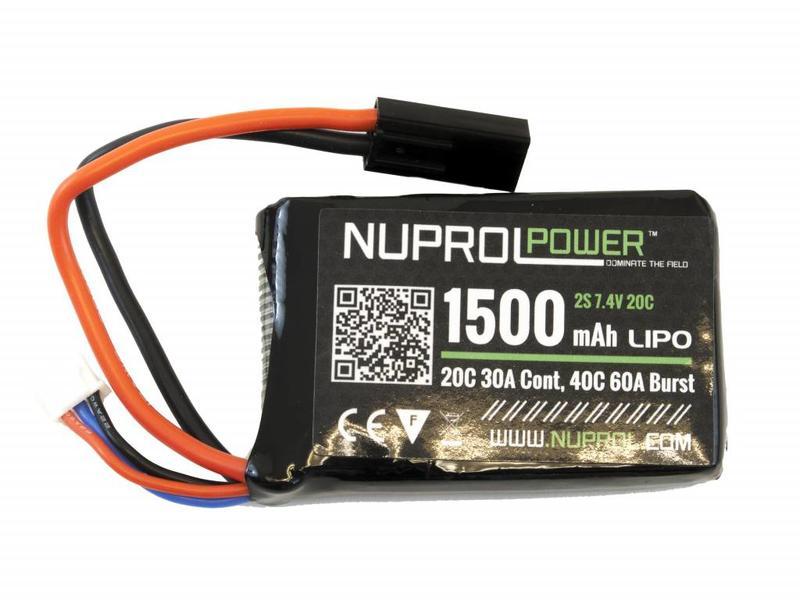 Nuprol Power 1500MAH 7.4V 20C Lipo PEQ15 Micro Type