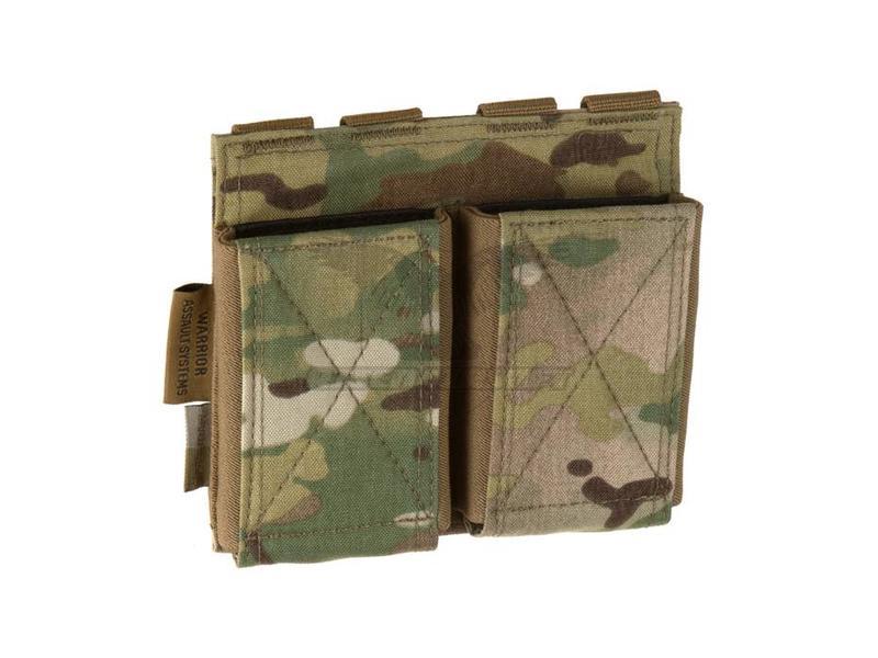 Warrior Double Elastic Mag Pouch Multicam