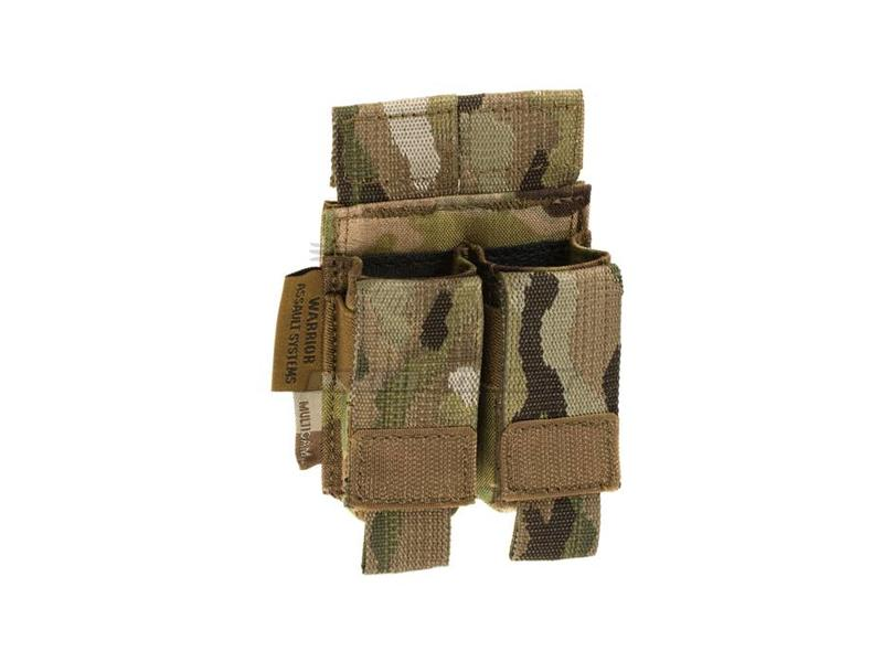 Warrior Direct Action Double Pistol Mag Pouch 9mm Multicam