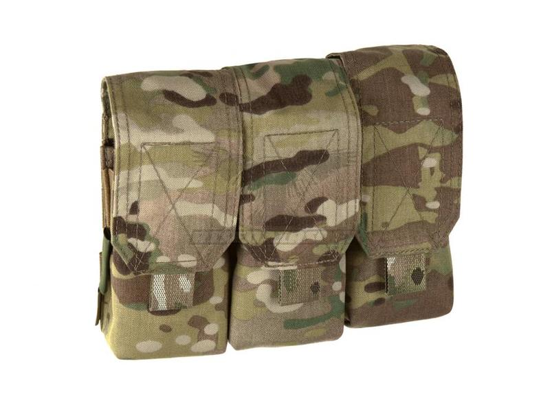 Warrior Triple Covered Mag Pouch M4 5.56mm Multicam