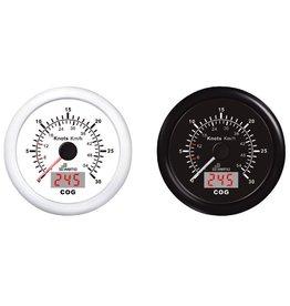 Wema Wema GPS snelheidsmeter met  kompas, 15 kn / 27 km/h zwart
