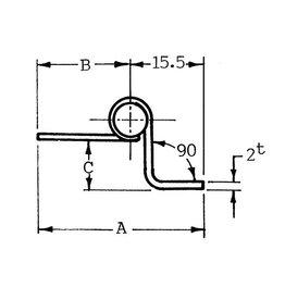 Talamex SCHARNIER RVS  63.5X38.5, 5X2MM
