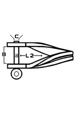 Lankhorst Taselaar Rvs plaatsluiting gedraaid 5mm 12x24mm