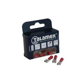 Talamex KABELSCHOEN 6.3mm ROOD