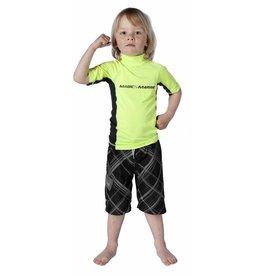 Magic Marine Magic Marine Cube Rash Vest (kids), korte mouw