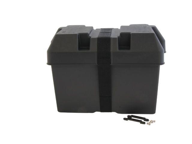 Talamex Kunststof accudoos / accubak met veiligheidsriem