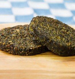 It's Greenish Algenburger with quinoa