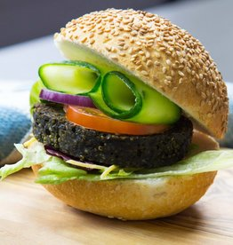 Algae burger with Teff
