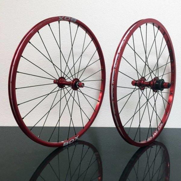 "Promax BMX Hjulsett 20""x1-1/8 Rød"
