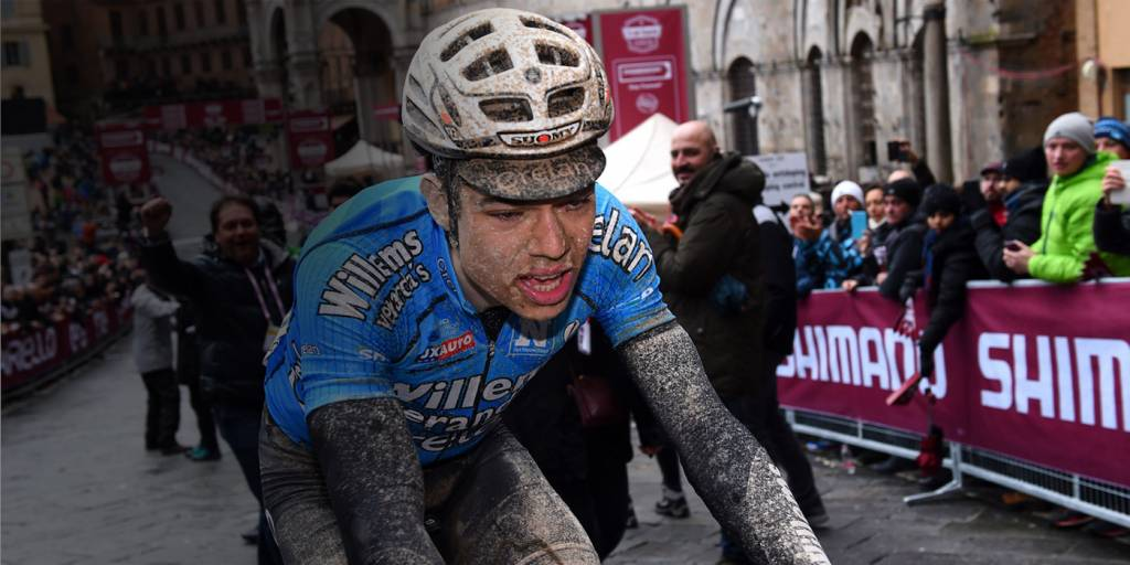 Sensational Third Place For Wout van Aert At Strade Bianche