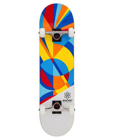 Rocket Complete Skateboard Eclipse, Blue/Red, 8in