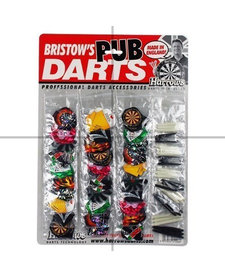 Harrows Pub Darts Flights or Stems (price for each set of 3)