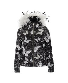 Vist Caterina Leopard Butterfly Down Jacket