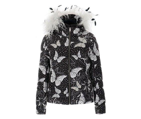 Vist Vist Caterina Leopard Butterfly Down Jacket
