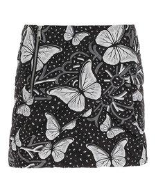 Vist Flora Leopard Down Skirt