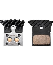 L04C disc brake pads, alloy backed with cooling fins, metal sintered